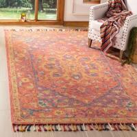 Safavieh Handmade Aspen Bohemian Southwestern Pink / Violet Wool Rug - 9' x 12'