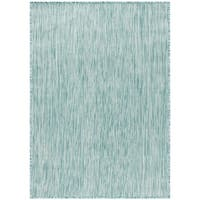 Safavieh Beach House Transitional Geometric Aqua Rug - 8' x 10'