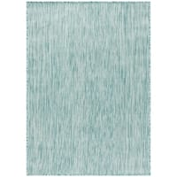 Safavieh Beach House Transitional Geometric Aqua Rug - 9' x 12'