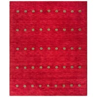 Safavieh Handmade Himalaya Contemporary Geometric Red Wool Rug - 8' x 10'