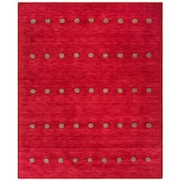 Safavieh Handmade Himalaya Contemporary Geometric Red Wool Rug - 8' X 10'