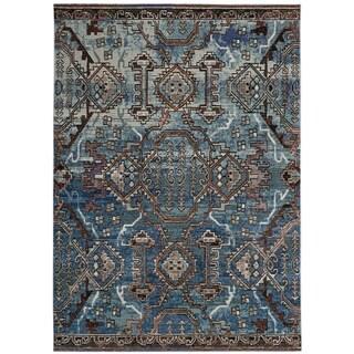 Safavieh Harmony Zoey Vintage Boho Oriental Rug (10 x 14 - Blue/Light Blue)