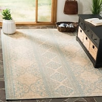 Safavieh Linden Contemporary Geometric Aqua / Cream Rug - 8' x 10'