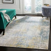 Safavieh Handmade Mirage Contemporary Geometric Turquoise / Grey Viscose Rug - 9' x 12'