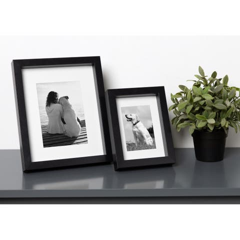 DesignOvation MacIntyre Wood Photo Frames, Set of 4