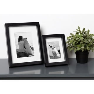DesignOvation MacIntyre Wood Photo Frames, Set of 4