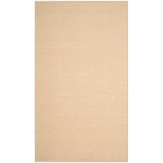 Safavieh Handmade Flatweave Montauk Eliina Casual Cotton Rug (9 x 12 - Ivory/Gold)