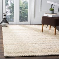 Safavieh Handmade Natural Fiber Contemporary Geometric Bleach Jute Rug - 10' x 14'