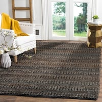 Safavieh Handmade Natural Fiber Contemporary Geometric Charcoal Jute Rug - 10' x 14'