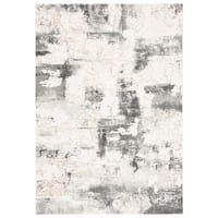 Safavieh Vogue Contemporary Geometric Beige / Charcoal Polyester Rug - 9' x 12'