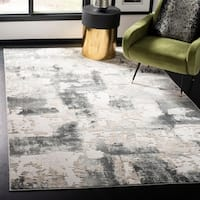 Safavieh Vogue Contemporary Geometric Beige / Charcoal Polyester Rug - 8' x 10'