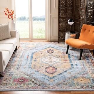 Safavieh Bristol Vintage Oriental Blue / Camel Polyester Rug - 11' x 16'