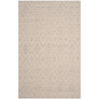 Safavieh Handmade Marbella Asya Modern Wool Rug (3 x 5 - Silver/Ivory)