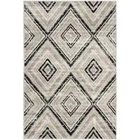 Safavieh Skyler Vintage Geometric Grey / Black Rug - 3' x 5'
