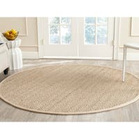 Safavieh Natural Fiber Contemporary Geometric Natural / Beige Seagrass Rug - 9' x 9' round