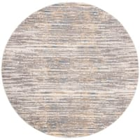 """Safavieh Meadow Contemporary Abstract Grey / Gold Polyester Rug - 6'7"""" x 6'7"""" round"""