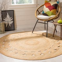 Safavieh Handmade Natural Fiber April Natural Brown Jute Rug - 8' x 8' Round