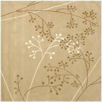 Safavieh Handmade Soho Contemporary Geometric Sage Wool Rug - 8' x 8' Square