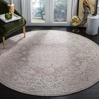 Safavieh Reflection Contemporary Oriental Beige / Cream Polyester Rug - 5' x 5' round