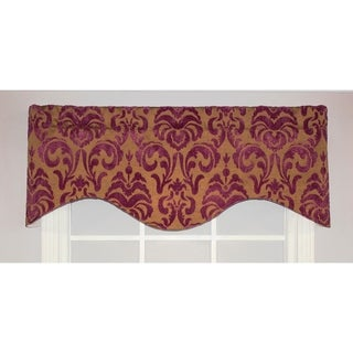 RLF Home Metropole Cornice Window Valance - Crimson
