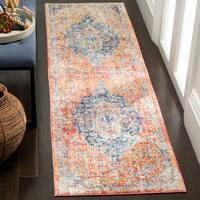 """Safavieh Bristol Vintage Oriental Blue / Orange Polyester Rug - 2'3"""" x 6'"""