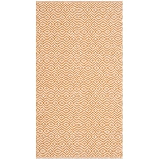 Safavieh Handmade Flatweave Montauk Eliina Casual Cotton Rug (23 x 6 Runner - Ivory/Rust)