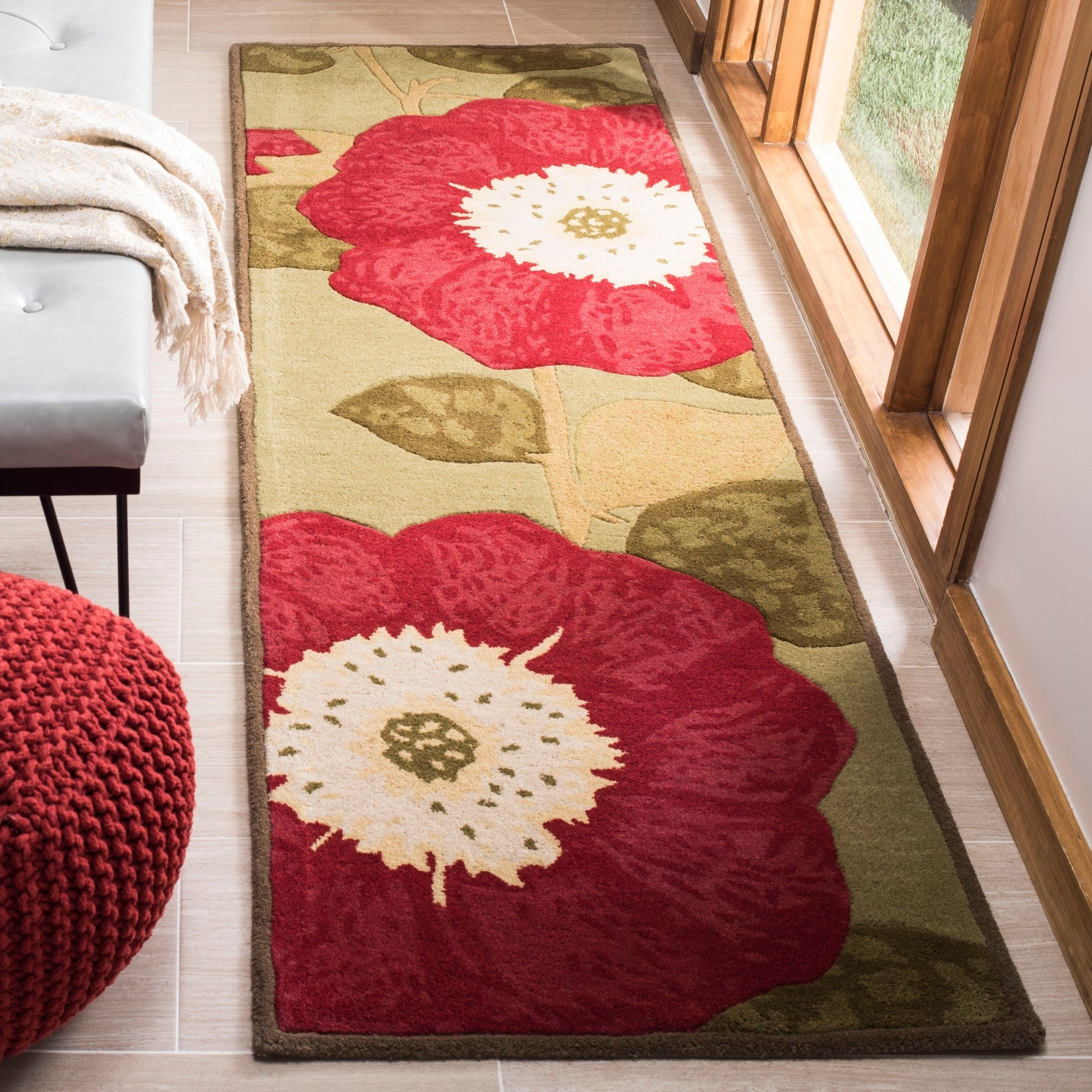 Details About Safavieh Handmade Martha Stewart Collection Contemporary Floral Dill Wool Rug