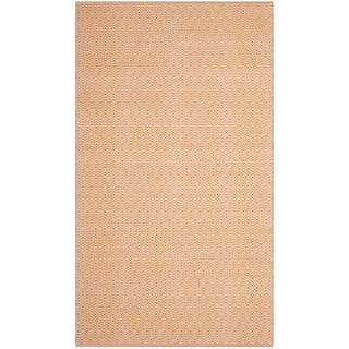 Safavieh Handmade Flatweave Montauk Eliina Casual Cotton Rug (6 x 9 - Ivory/Rust)