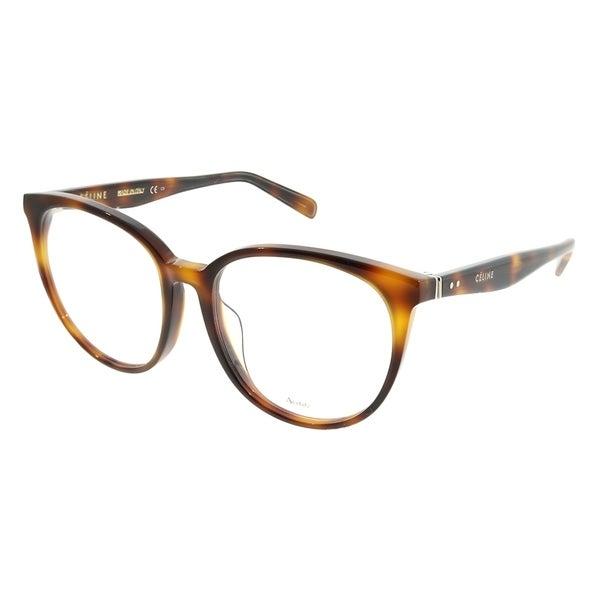 0b85c842bba Celine Round CL 1022 F Asian Fit 05L Unisex Havana Frame Eyeglasses