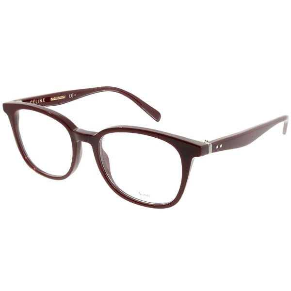 38228824165 Celine Square CL 41346 Thin Squared LHF Unisex Opal Burgundy Frame  Eyeglasses