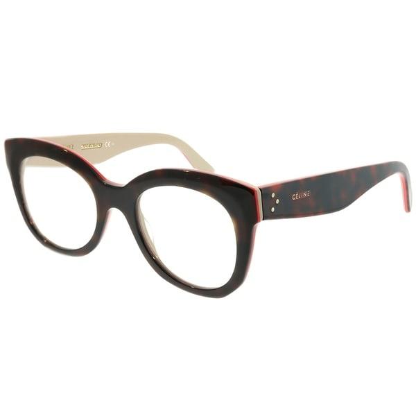 3b118da680a Celine Square CL 41362 Marta A26 Unisex Havana Red Beig Frame Eyeglasses