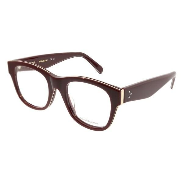 b6c909a7972 Celine Square CL 41364 Strat Brow D65 Unisex Burgundy Gold Frame Eyeglasses