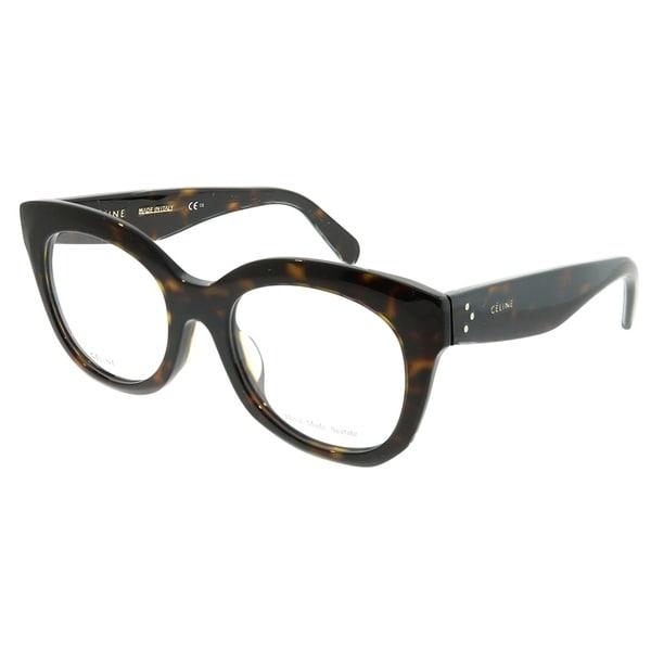 d21fbd150ad Celine Square CL 41368 F Marta Asian Fit 086 Unisex Dark Havana Frame  Eyeglasses