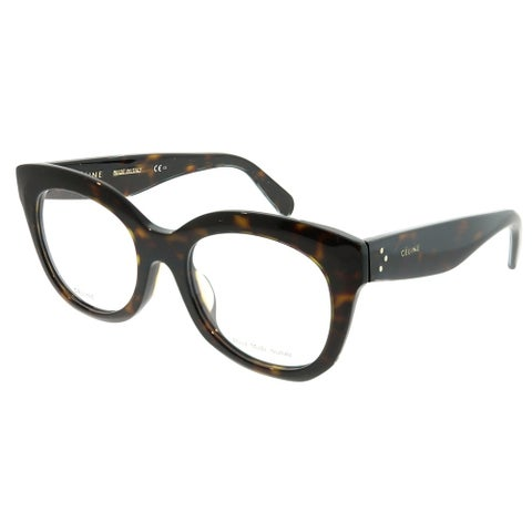 Celine Square CL 41368/F Marta Asian Fit 086 Unisex Dark Havana Frame Eyeglasses