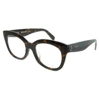 Celine Square CL 41368/F Marta Asian Fit 086 Unisex Dark Havana Frame Eyeglasses