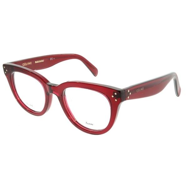 04509b34e6a9b Celine Cat-Eye CL 41379 Anna CR3 Women Transparent Red Frame Eyeglasses