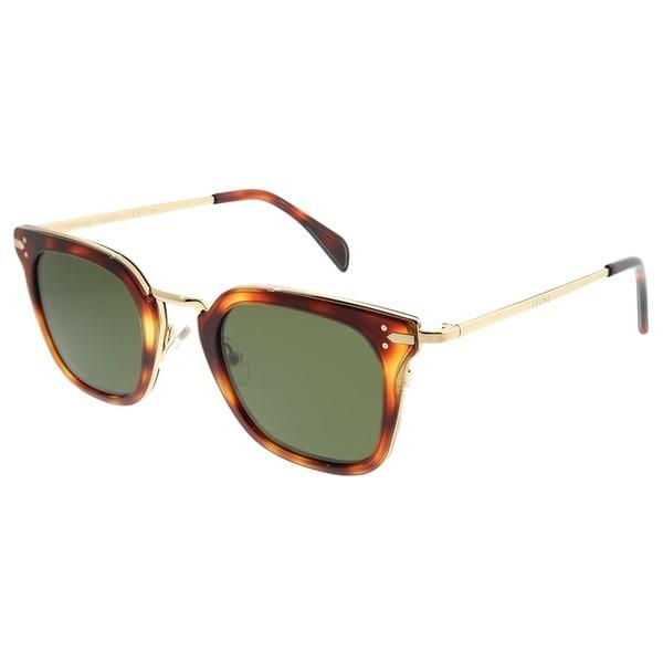 7a683c211e8 Celine Square CL 41402 Vic 3UA 1E Women Havana Gold Frame Sunglasses