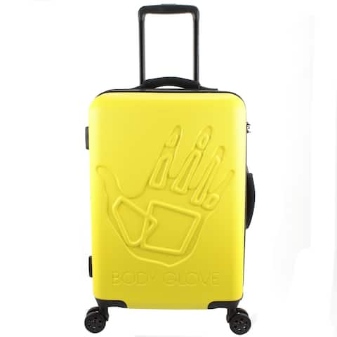 Body Glove Redondo 22 Inch Hardside Yellow Suitcase - 9.0 In. X 14.5 In. X 21.5 In.
