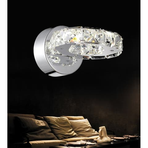 Silver Orchid Brownlee LED Wall Sconce with Chrome Finish