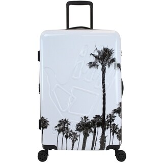 Body Glove Redondo 29 Inch Hardside Suitcase - White / Palm Trees