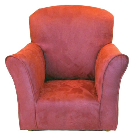 Toddler Rocker in Dusty Rose Microfiber