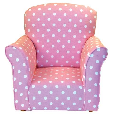 Toddler Rocker in Baby Pink with White Polka Dot Printed Cotton