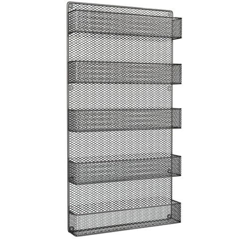 Spice Rack Organizer-Space Saving Wall Mount 5 Tier Storage Shelves by Home-Complete