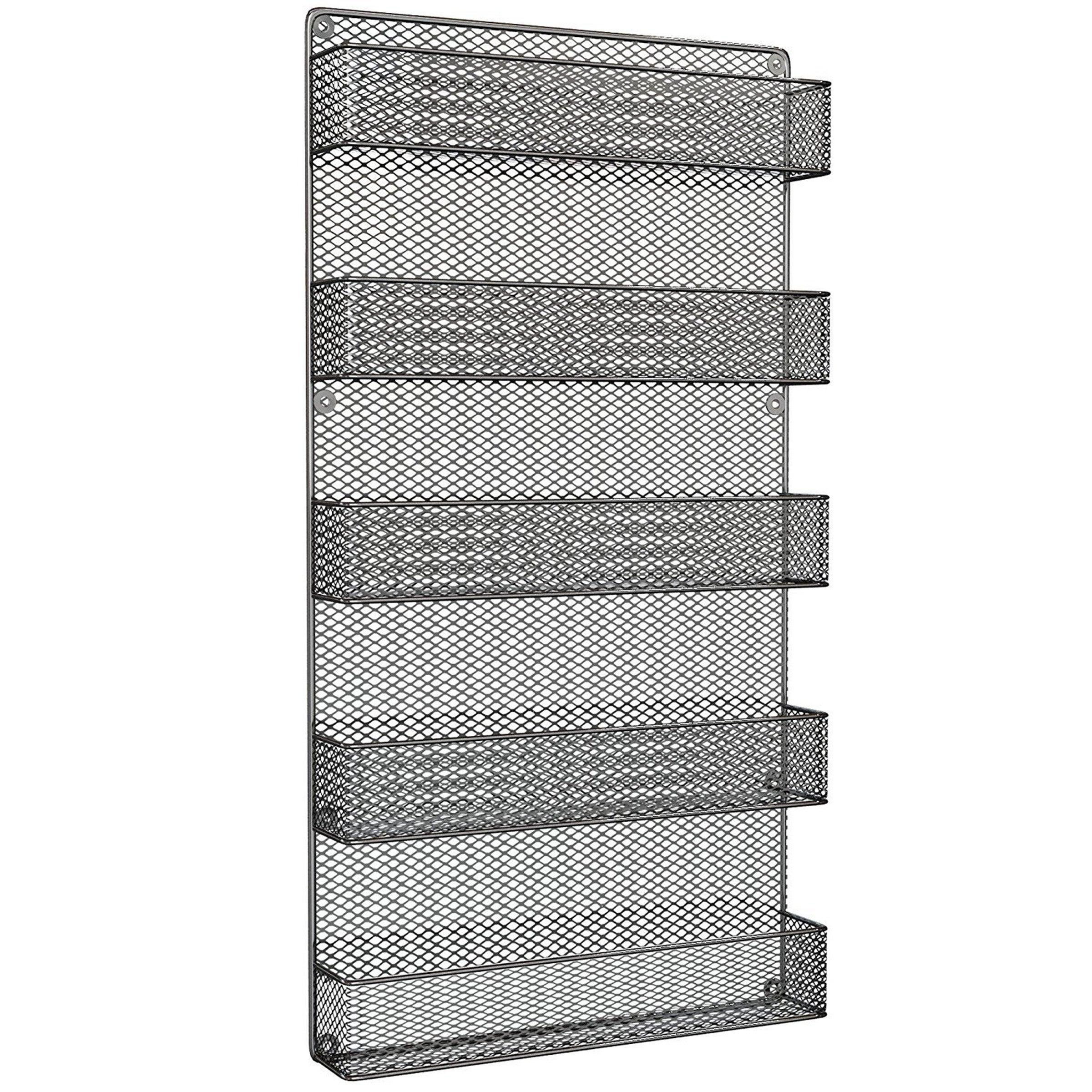 Spice Rack Organizer-Space Saving Wall Mount 5 Tier Storage Shelves by Home-Complete  sc 1 st  Overstock.com & Buy Spice Racks Online at Overstock.com | Our Best Kitchen Storage Deals