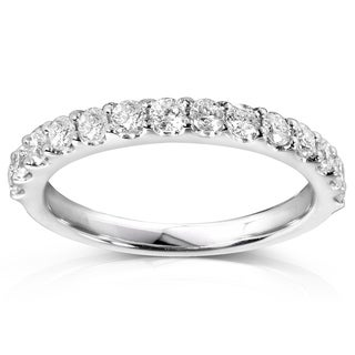 Link to Annello by Kobelli Platinum 1/2ct TDW Lab Grown Diamond Semi Eternity Band (DEF/VS) Similar Items in Wedding Rings