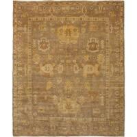 eCarpetGallery  Hand-knotted Royal Ushak Tan Wool Rug - 8'1 x 9'10