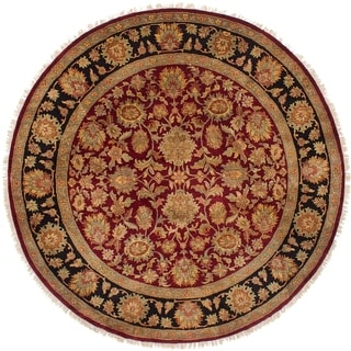 eCarpetGallery  Hand-knotted Sultanabad Dark Red Wool Rug - 8'1 x 8'1