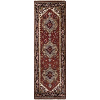 eCarpetGallery  Hand-knotted Serapi Heritage Red Wool Rug - 2'8 x 8'0