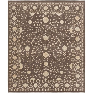 eCarpetGallery  Hand-knotted Jamshidpour Dark Brown Wool Rug - 8'1 x 9'7