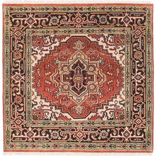 eCarpetGallery Hand-knotted Serapi Heritage Copper Wool Rug - 4'0 x 4'1